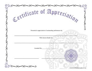 Blank Certificate Pictures