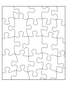 Blank Jigsaw Puzzle Template Printable