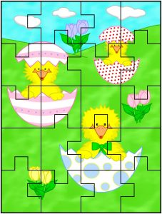 Easter Jigsaw Puzzles Printable