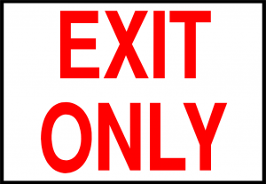 Exit Only Sign Printable