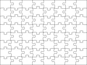 Free Printable Blank Jigsaw Puzzle