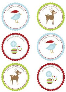 Free Printable Round Christmas Labels