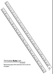 Free Printable Tape Measure