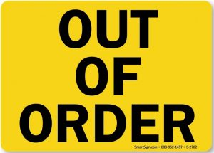 Out of Order Sign Printable
