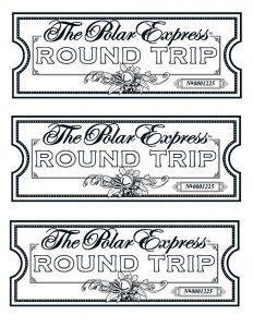 Polar Express Movie Ticket Printable