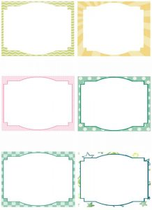 Printable Blank Note Cards