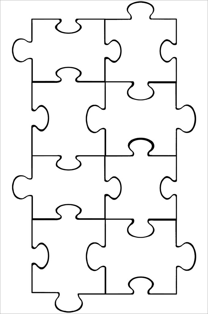 Puzzle Template 10 Pieces from www.kittybabylove.com