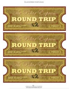 Printable Golden Tickets for the Polar Express