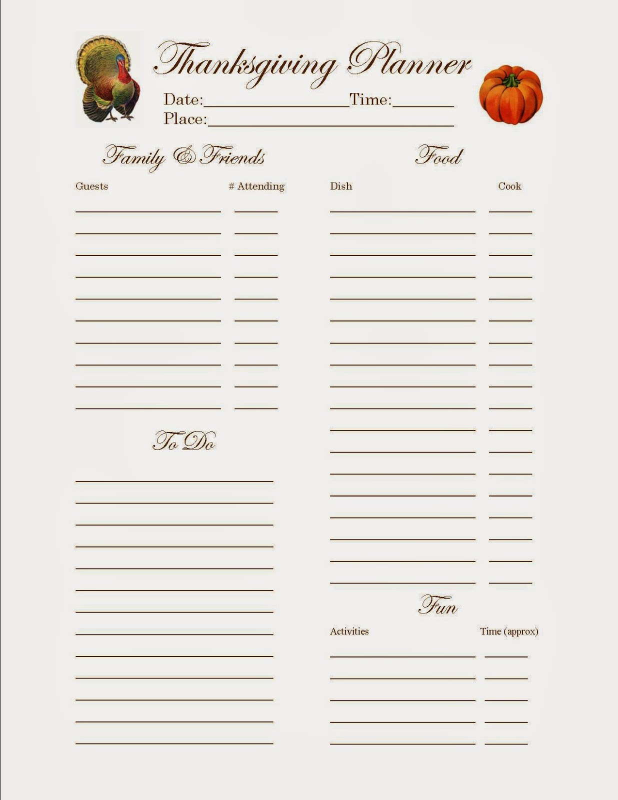 10 Thanksgiving Potluck Sign Up Sheets To Keep It Smooth Kittybabylove Com