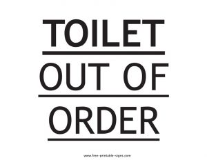 Printable Toilet Out of Order Sign