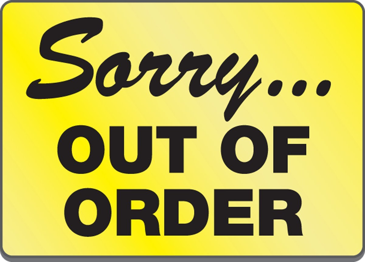 12 Creative Out of Order Sign Printables | KittyBabyLove.com
