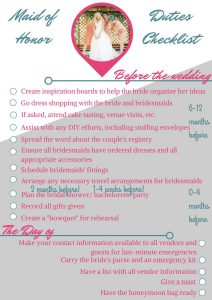 Bachelorette Party Checklist for Maid of Honor