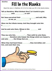 Fill in the Blank Bible Stories