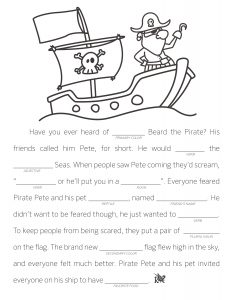 Fill in the Blank Stories 3rd Grade