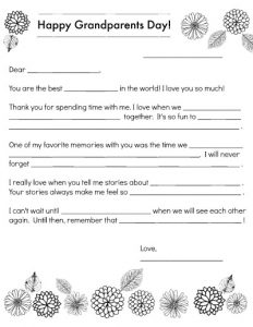Fill in the Blank Stories Printable