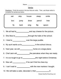 Fill in the Blank Stories Worksheets