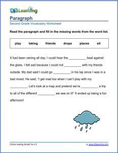 Fill in the Blank Stories for 2nd Grade
