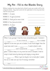 Fill in the Blank Stories for Preschoolers