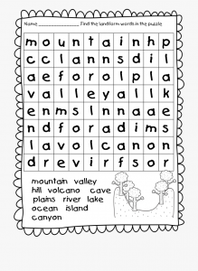 First Grade Word Search to Print