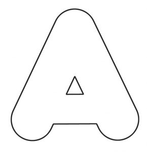 Printable Bubble Letter A