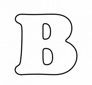 Printable Bubble Letter B
