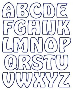 Printable Bubble Letters Alphabet