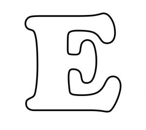 Printable Bubble Letters E
