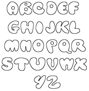 Printable Bubble Letters Graffiti