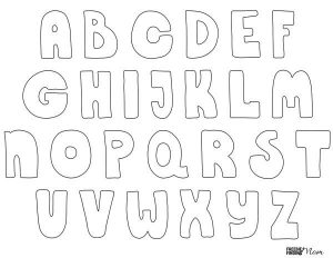 Printable Bubble Letters for Kids