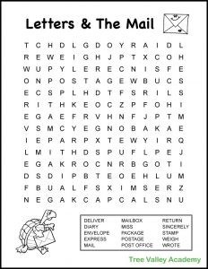 Printable Fourth Grade Word Search