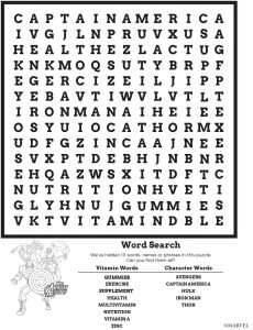 The Avengers Word Search