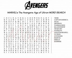 Word Search for Avengers