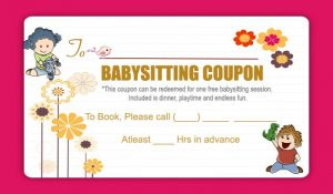 Babysitting Coupons to Print