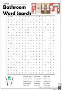 Bathroom Word Search
