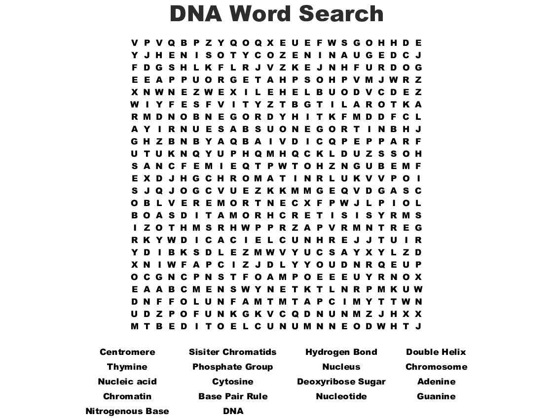 DNA Word Search