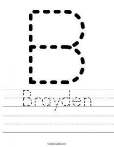 Letter Name Tracing
