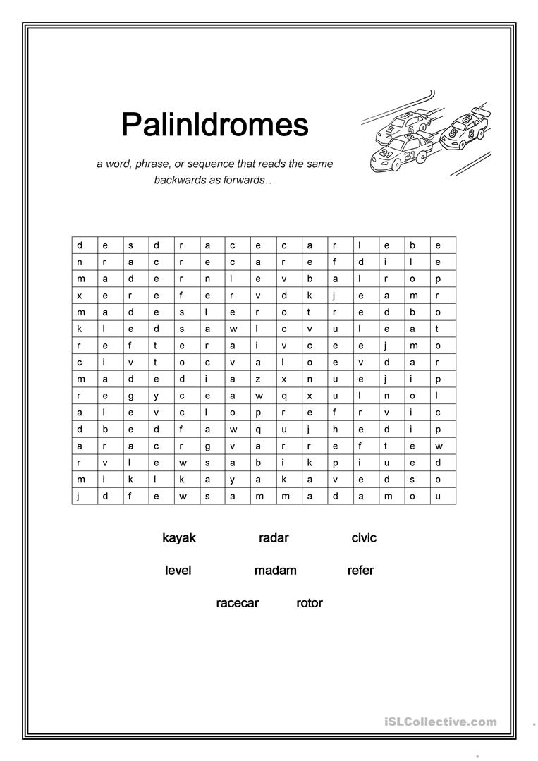 Palindrome Word Search