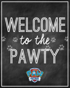 Paw Patrol Welcome Sign Printable