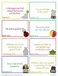 Printable Bible Verses for Toddlers