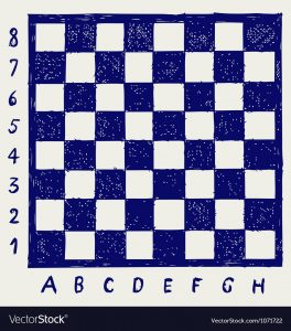 Printable Chess Board with Numbers