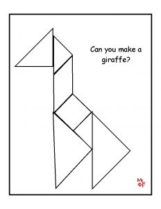 Printable Tangram Puzzles for Kindergarten