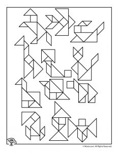 Tangram Puzzles to Print