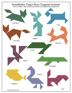 Tangram Shape Sheet