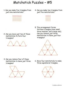Toothpick Puzzles Triangles