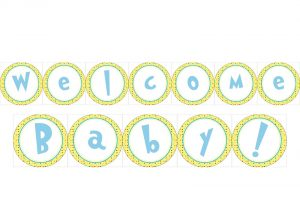 Welcome Baby Sign Printable