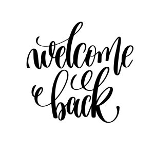 Welcome Back Sign Printable