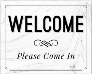 Welcome Please Sign in Printable